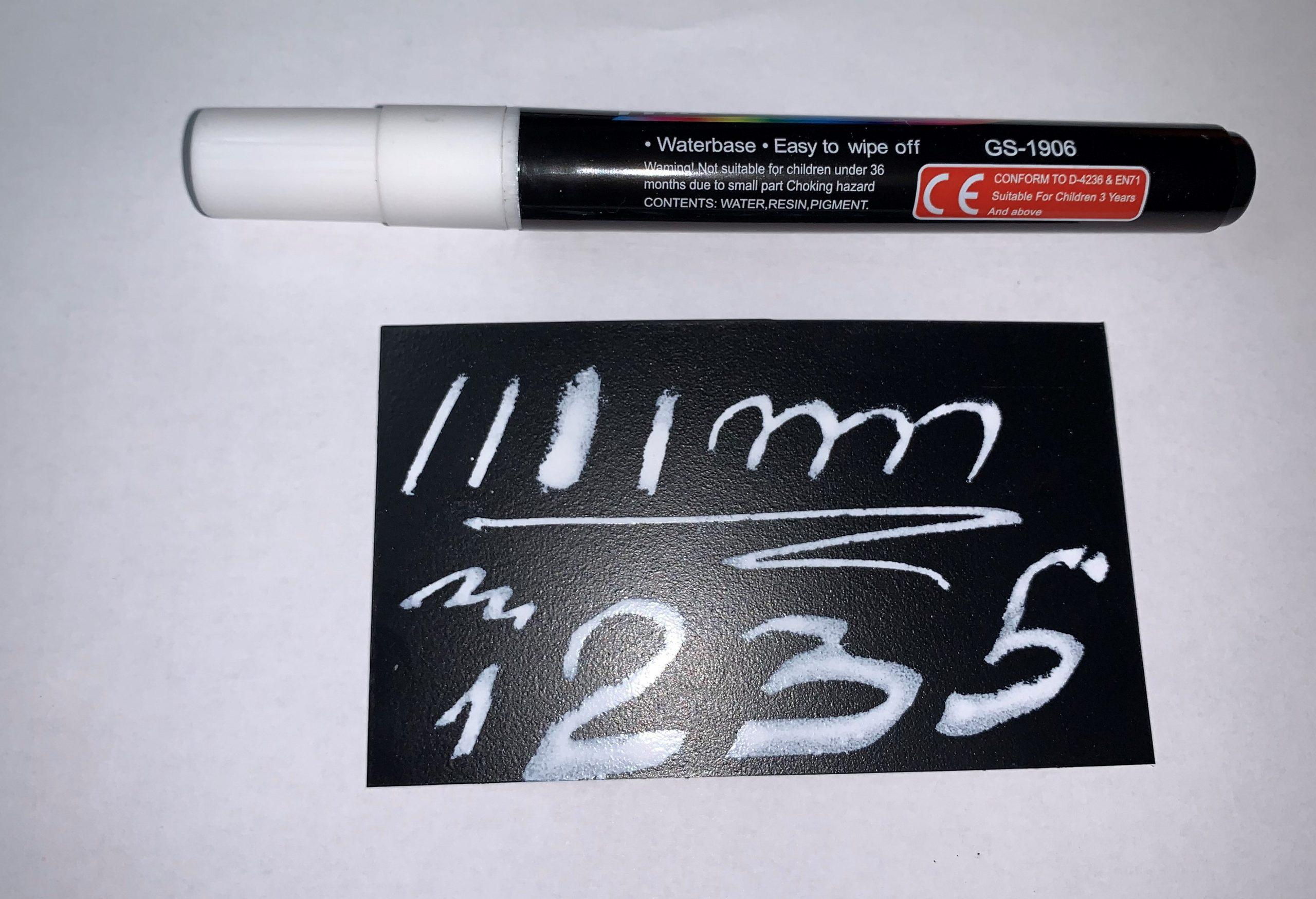 Белый маркер меловой